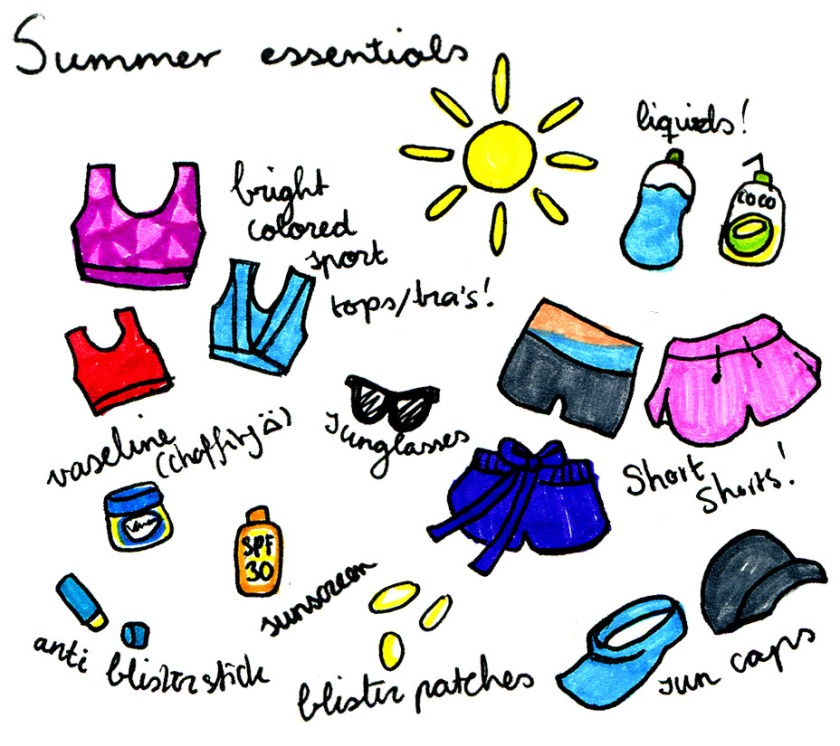 Essentials for running in the summer